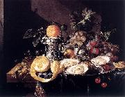 Cornelis de Heem Still-Life with Oysters oil