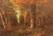Courbet, Gustave Forest in Autumn oil