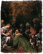Follower of Jacopo da Ponte The Adoration of the Magi oil painting artist