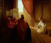 Francesco Hayez Valenza Gradenigo before the Inquisition oil painting reproduction