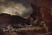 Francis Danby Liensfiord [possibly Lifjord, a part of Sognefjord oil painting artist