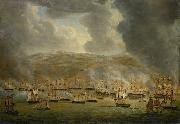 Gerardus Laurentius Keultjes The assault on Algiers by the allied Anglo-Dutch squadron oil painting