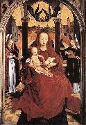Hans Memling Virgin and Child Enthroned with two Musical Angels Spain oil painting artist