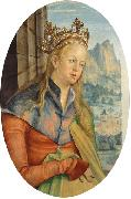 Hans von Kulmbach Saint Catherine of Alexandria. oil painting