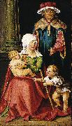 Hans von Kulmbach Mary Salome and Zebedee with their Sons James the Greater and John the Evangelist oil painting