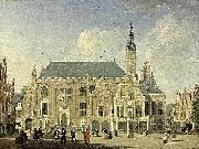 Jan ten Compe Haarlem: view of the Town Hall oil painting reproduction