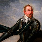 Johann Walter Gustavus Adolphus of Sweden at the Battle of Breitenfeld Spain oil painting artist