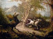 John Quidor The Headless Horseman Pursuing Ichabod Crane oil painting artist