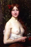 Jules Joseph Lefebvre Half-Length Demi-Nude oil painting reproduction