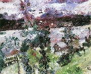 Lovis Corinth Walchensee, Neuschnee oil painting reproduction