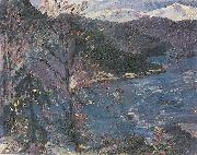Lovis Corinth Walchensee im Herbst oil painting reproduction