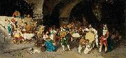 Luis Riccardo Falero Day in a tavern oil painting artist