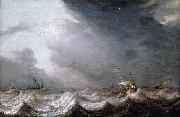 MOLYN, Pieter de Dutch Vessels at Sea in Stormy Weather oil painting artist
