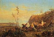 Massimo d Azeglio Arabs on Horseback oil painting artist