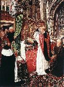 Master of Saint Giles The Mass of St Gilles oil painting artist