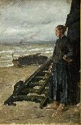 Meunier, Constantin Fishermans Daughter at Nieuwpoort oil painting artist