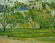 Paul Cezanne Obstgarten in Pontoise oil painting reproduction