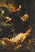 REMBRANDT Harmenszoon van Rijn Sacrifice of Isaac. oil painting reproduction