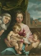Rutilio Manetti Virgin and Child with the Young Saint John the Baptist and Saint Catherine of Siena oil painting artist