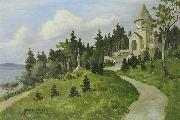 Anton Genberg Votivkapelle in Berg am Starnberger oil painting
