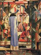 August Macke Grobes helles Schaufenster Spain oil painting artist