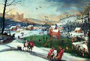 Gillis Mostaert Winter landscape with the flight into Egypt oil painting artist