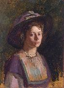 Heinrich Martin Krabbe Young Lady oil painting