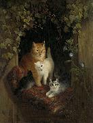 Henriette Ronner-Knip Cat with Kittens oil painting