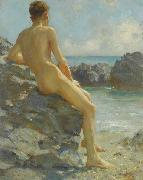 Henry Scott Tuke The Bather oil painting reproduction