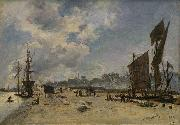 Johan Barthold Jongkind Quai a Honfleur oil painting reproduction