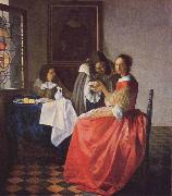 Johannes Vermeer Girl with the Wine Glass oil painting reproduction