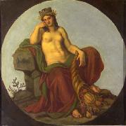 Lotz, Karoly Allegory of Earth oil painting artist