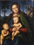 Lucas Cranach the Elder Madonna with Child with Young John the Baptist oil painting artist