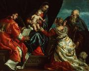Paolo  Veronese Sacra Conversazione oil painting reproduction