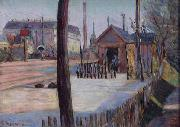 Paul Signac Railway junctiRailway junction near Bois Colombeson near Bois-Colombes oil painting reproduction
