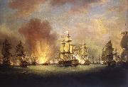 Richard Paton The Moonlight Battle off Cape St Vincent, 16 January 1780 oil painting