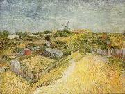 Vincent Van Gogh Gemusegarten am Montmartre Spain oil painting artist