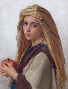 William-Adolphe Bouguereau Girl with a pomegranate oil painting reproduction