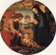 ALBERTINELLI Mariotto The Adoration of the Child with an Angel oil painting
