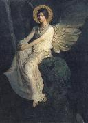 Abbott Handerson Thayer Angel Seated on a Rock oil painting artist