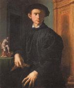 Agnolo Bronzino Portrait of a Young Man with a Lute oil painting picture wholesale