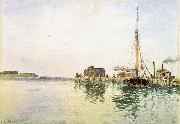 Alfred Thompson Bricher Harbor oil painting picture wholesale