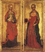 Andrea Bonaiuti St.Agnes and St.Domitilla oil painting