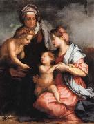 Andrea del Sarto Madonna and Child wiht SS.Elizabeth and the Young john oil painting artist