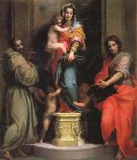 Andrea del Sarto Madonna and Child with SS.Francis and John the Baptist oil painting picture wholesale