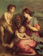 Andrea del Sarto Holy Family with john the Baptist oil