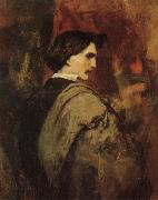 Anselm Feuerbach Self Portrait oil