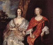 Anthony Van Dyck Anna Dalkeith,Countess of Morton,and Lady Anna Kirk oil painting picture wholesale