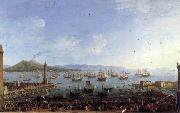 Antonio Joli The Embarkation of Charles III in the Port of Naples oil painting