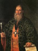 Antropov, Aleksei Portrait of Father Fyodor Dubyansky oil